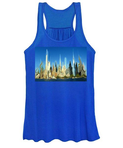 New York City Skyline 2100 - Modern Artwork Women's Tank Top
