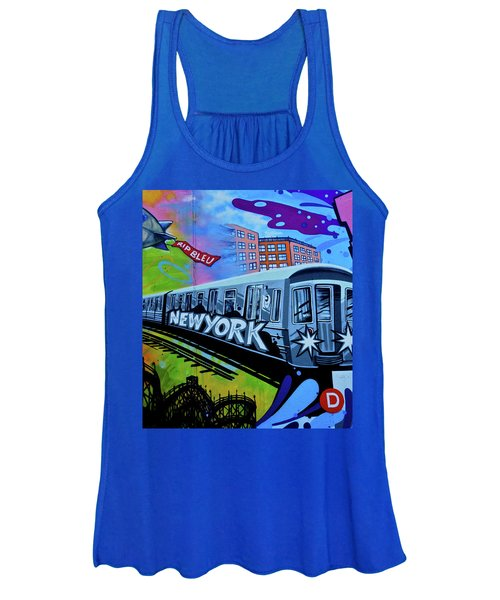New York Train Women's Tank Top