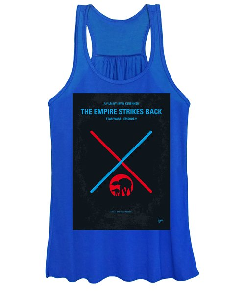 No155 My Star Wars Episode V The Empire Strikes Back Minimal Movie Poster Women's Tank Top