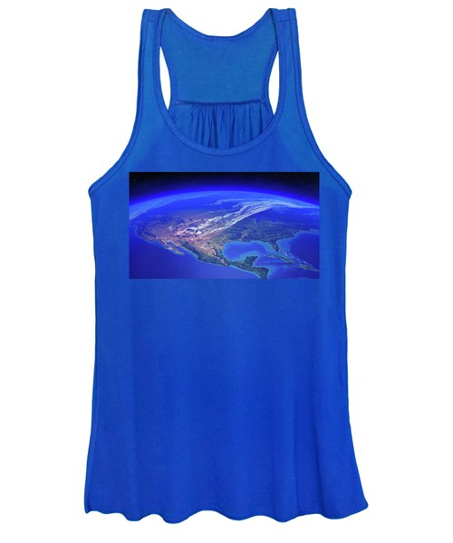 North America Seen From Space Women's Tank Top