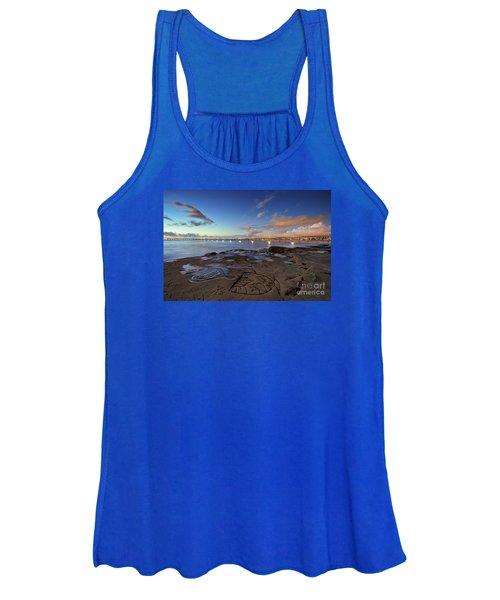 Ocean Beach Pier At Sunset, San Diego, California Women's Tank Top