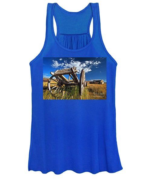 Old Abandoned Wagon, Bodie Ghost Town, California Women's Tank Top