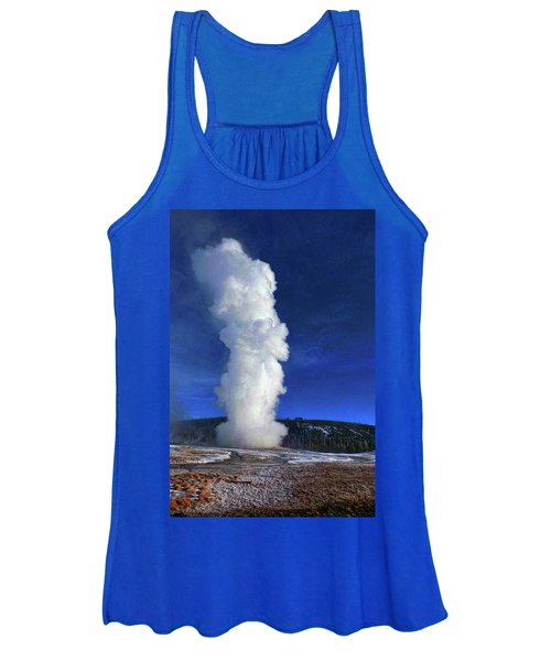Old Faithful In Winter Women's Tank Top