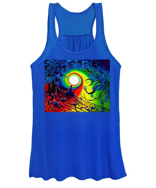Om Tree Of Life Meditation Women's Tank Top