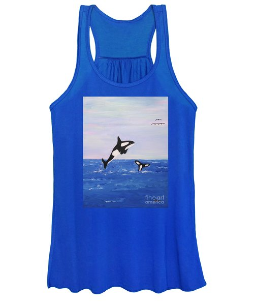 Orcas In The Morning Women's Tank Top