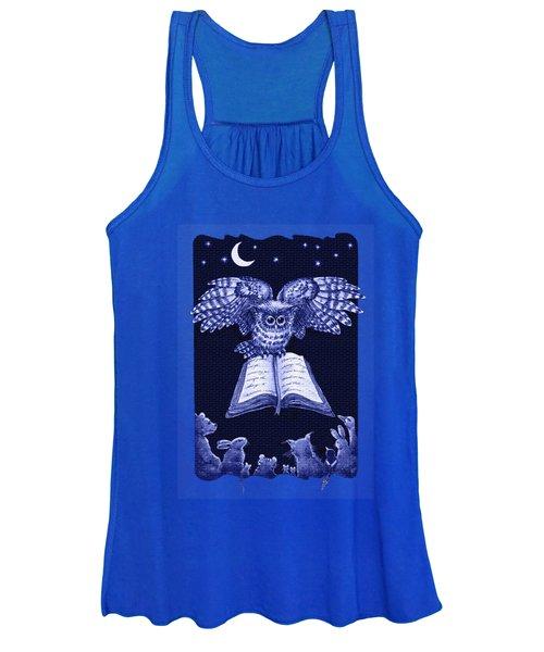Owl And Friends Indigo Blue Women's Tank Top