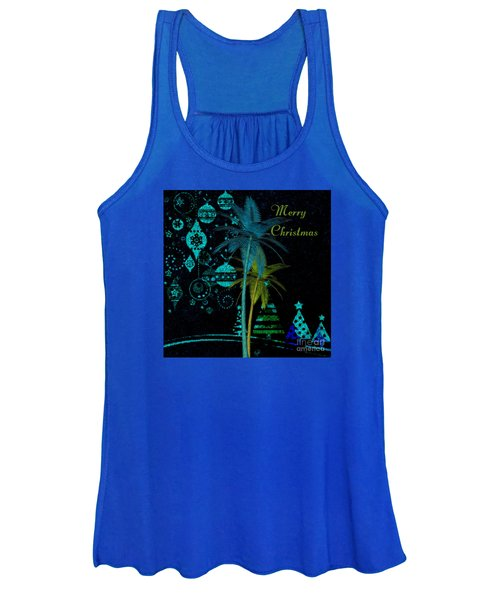 Palm Trees Merry Christmas Women's Tank Top