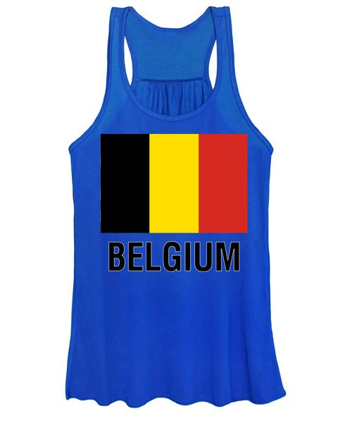 Parchment Flag Belgium Women's Tank Top
