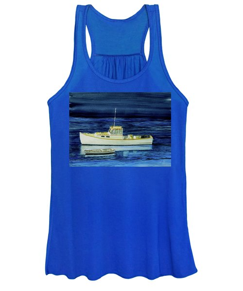 Perkins Cove Lobster Boat And Skiff Women's Tank Top