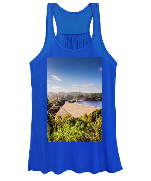 Picturesque Hydroelectric Dam Women's Tank Top