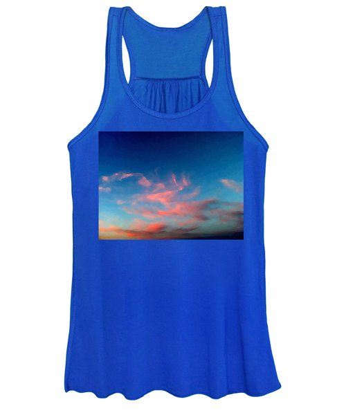 Pink Clouds Abstract Women's Tank Top