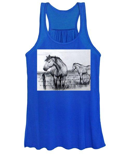 Ponder Texas Horses Women's Tank Top