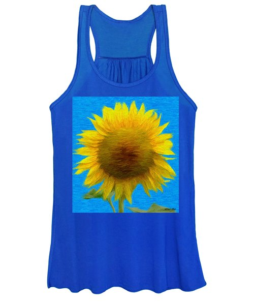 Portrait Of A Sunflower Women's Tank Top