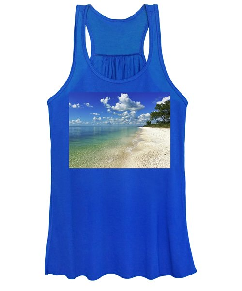 Puffy White Clouds At Delnor-wiggins Women's Tank Top