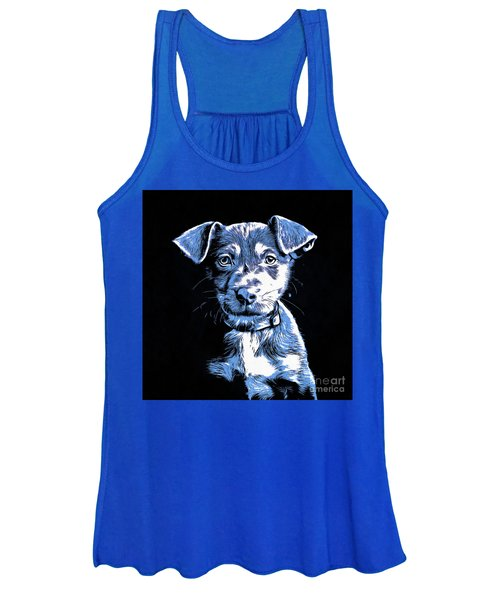 Puppy Dog Graphic Novel Drawing Women's Tank Top