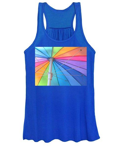 Rainbow Umbrella Women's Tank Top