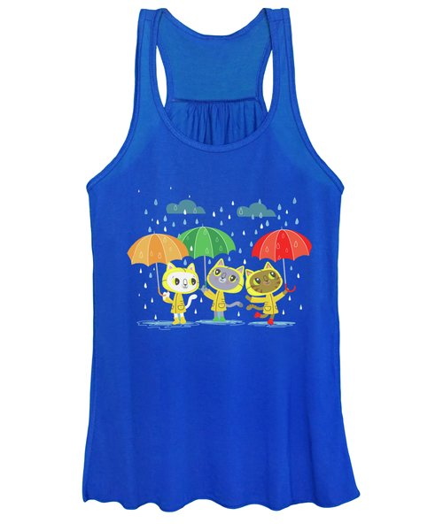 Rainy Day Kitty Cats Women's Tank Top