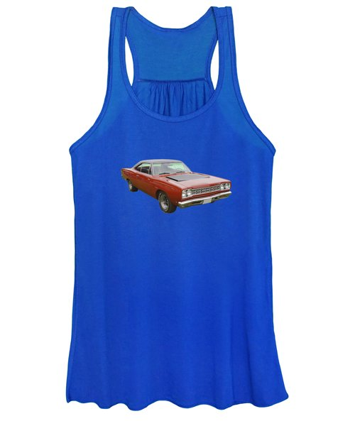 Red 1968 Plymouth Roadrunner Muscle Car Women's Tank Top