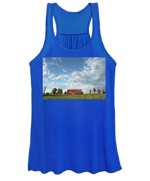 Red Barn On The Prairie Women's Tank Top