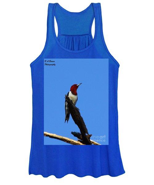 Red Headed Woodpecker On A Snag Women's Tank Top