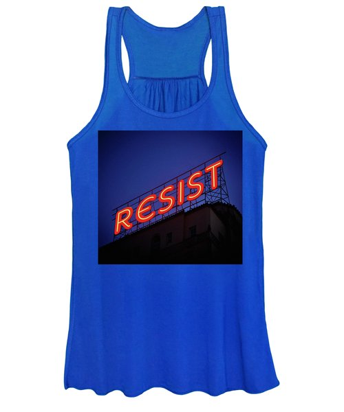 Resistance Neon Lights Women's Tank Top