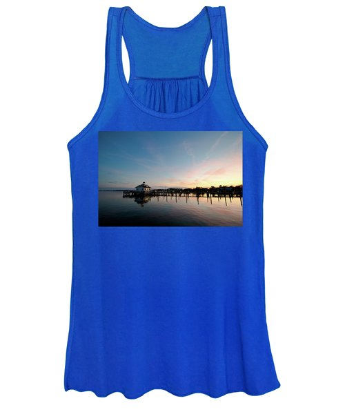 Roanoke Marshes Lighthouse At Dusk Women's Tank Top