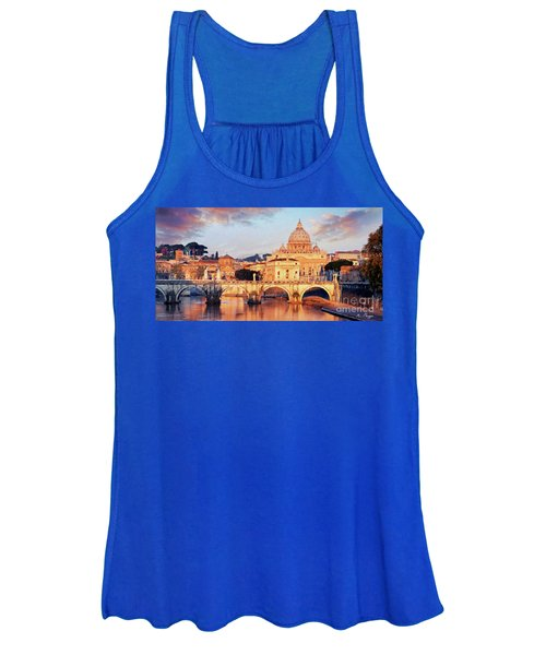 Rome The Eternal City - Saint Peter From The Tiber Women's Tank Top