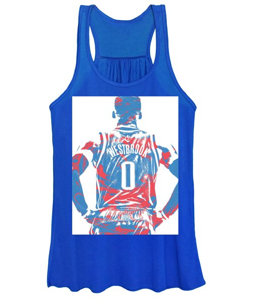 Russell Westbrook Oklahoma City Thunder Pixel Art 16 Women's Tank Top