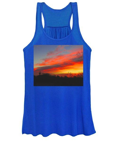 Saguaro Winter Sunrise Women's Tank Top