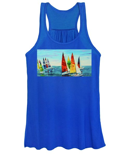 Sailboat Race Women's Tank Top
