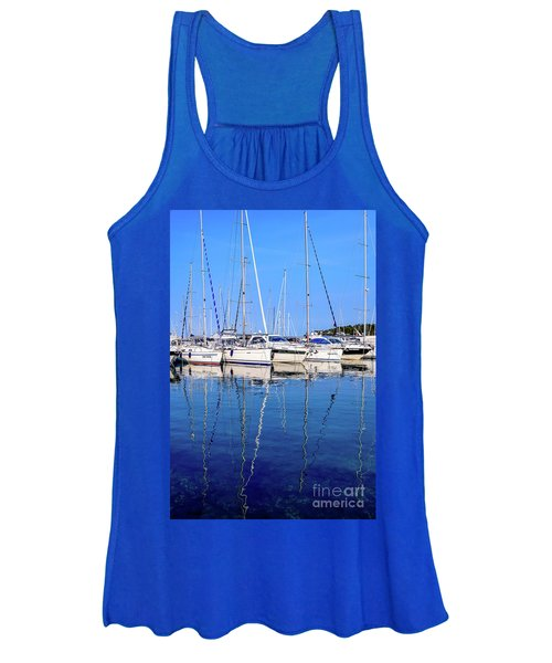 Sailboat Reflections - Rovinj, Croatia  Women's Tank Top