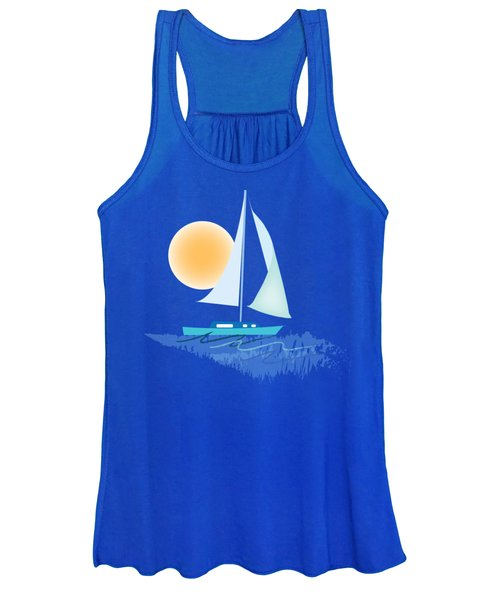 Women's Tank Top featuring the digital art Sailing Day by Gina Harrison