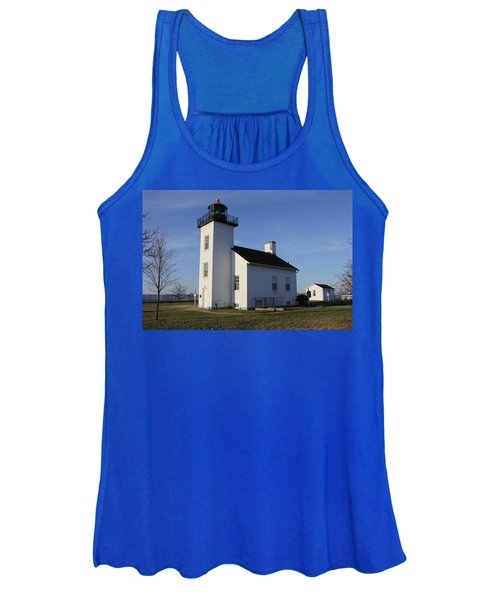 Sand Point Lighthouse In Escanaba Women's Tank Top
