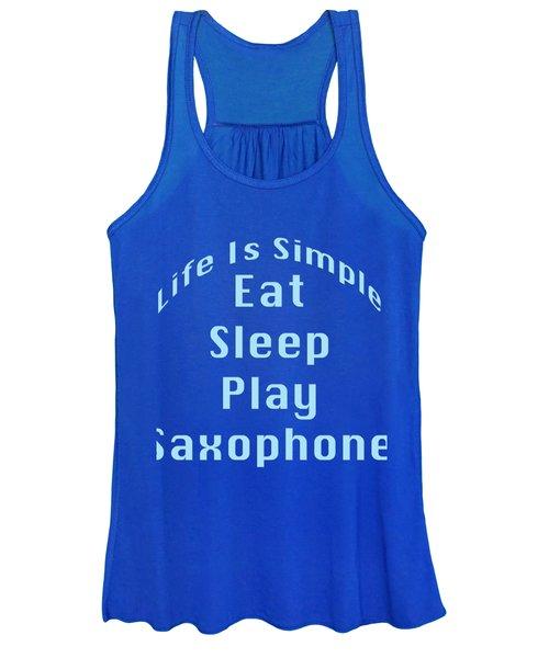 Saxophone Eat Sleep Play Saxophone 5515.02 Women's Tank Top