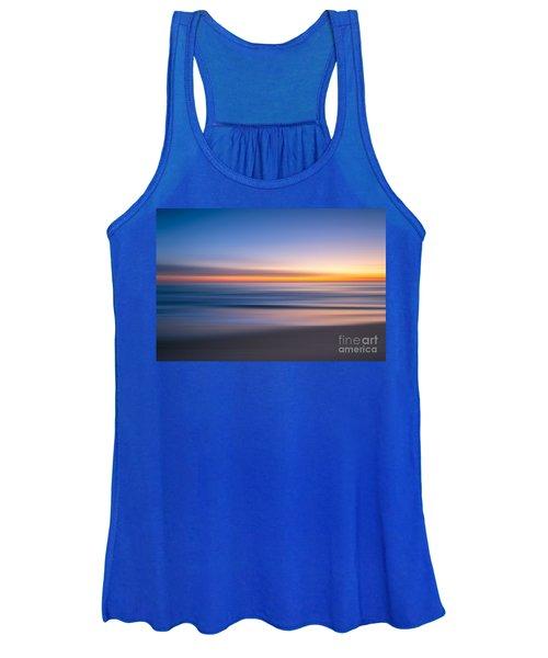 Sea Girt New Jersey Abstract Seascape Sunrise Women's Tank Top