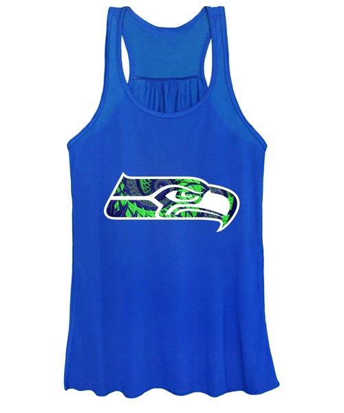 Seahawks Fractal Women's Tank Top