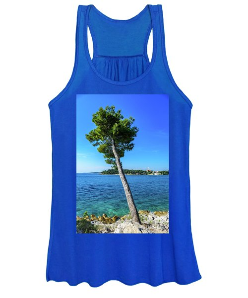 Seaside Leaning Tree In Rovinj, Croatia Women's Tank Top