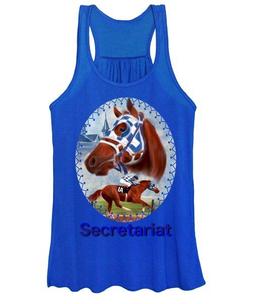 Secretariat Racehorse Portrait Women's Tank Top