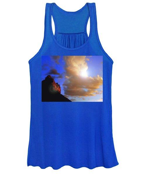Sedona Mountain Cloud Sun Women's Tank Top