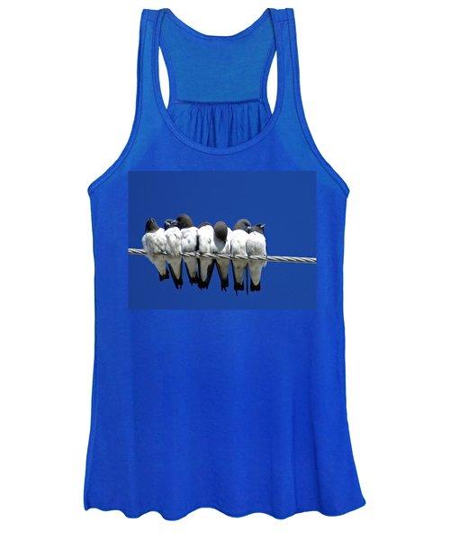 Seven Swallows Sitting Women's Tank Top