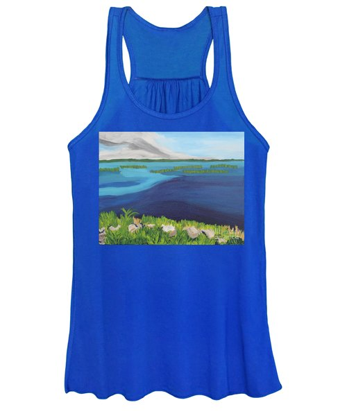 Serene Blue Lake Women's Tank Top