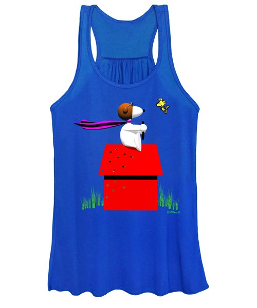 Snoopy Evades The Red Baron Women's Tank Top
