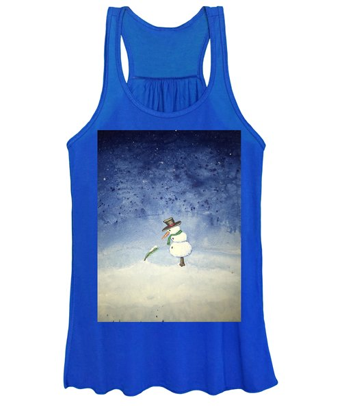 Women's Tank Top featuring the painting Snowfall by Antonio Romero