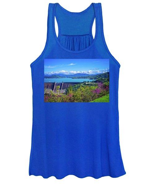 Springtime At Shasta Lake Dam Women's Tank Top