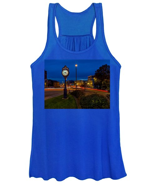 Stadium Clock During The Blue Hour Women's Tank Top
