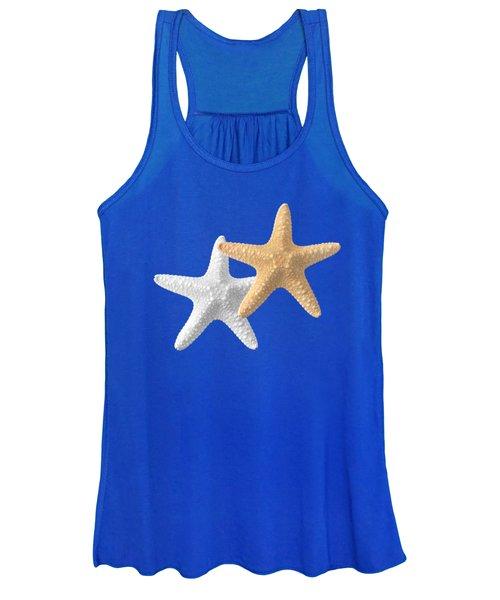 Starfish On Turquoise Women's Tank Top