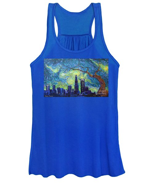 Starry Night Over The Queen City Women's Tank Top