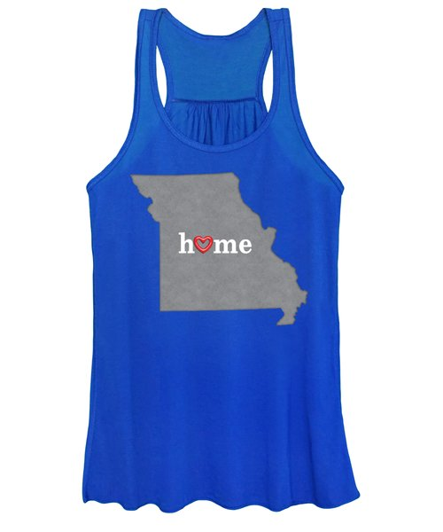 State Map Outline Missouri With Heart In Home Women's Tank Top