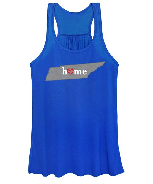 State Map Outline Tennessee With Heart In Home Women's Tank Top