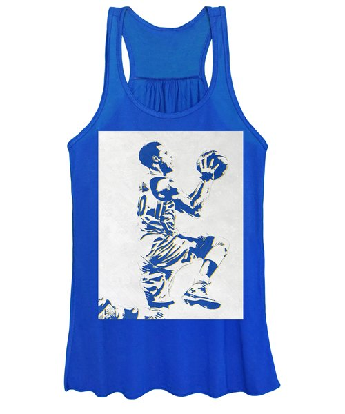 Stephen Curry Golden State Warriors Pixel Art Women's Tank Top